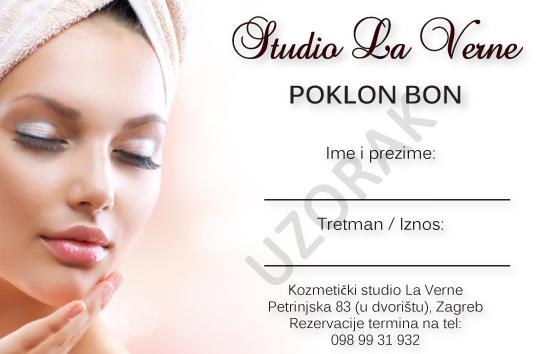 poklon bon kozmetički salon Studio La Verne