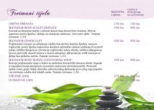 Kozmetički tretmani tijela, masaže, mezoterapija, protiv celulita