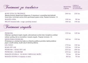 Kozmetički tretmani i masaže za trudnice